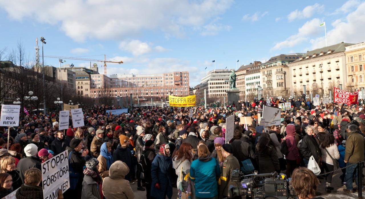 Demonstration mot REVA